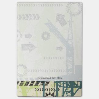 Fondo de alta tecnología abstracto notas post-it