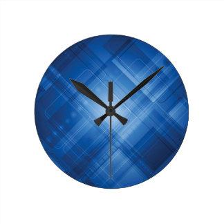 Fondo de alta tecnología azul marino reloj de pared