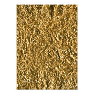 Fondo de aluminio de oro invitacion personalizada