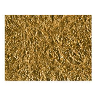 Fondo de aluminio de oro postal