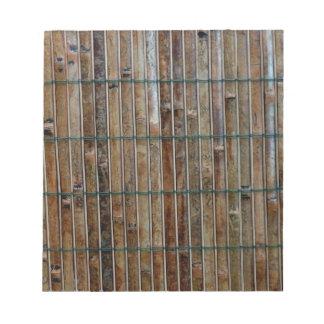 fondo de bambú de la estera libreta para notas