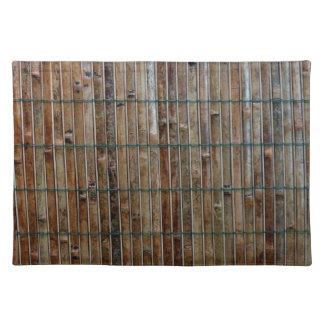 fondo de bambú de la estera mantel individual