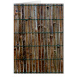 fondo de bambú de la estera tarjeta