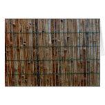 fondo de bambú de la estera tarjetón