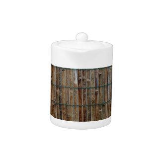 fondo de bambú de la estera