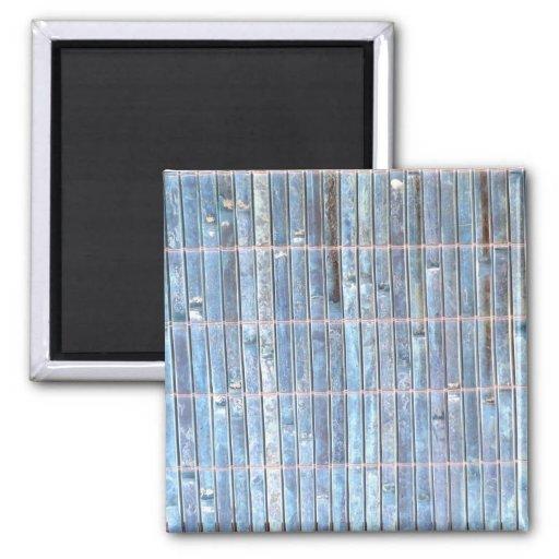 fondo de bambú del azul de la estera imán para frigorífico