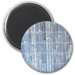 fondo de bambú del azul de la estera imanes para frigoríficos