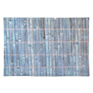 fondo de bambú del azul de la estera mantel individual