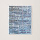 fondo de bambú del azul de la estera puzzle