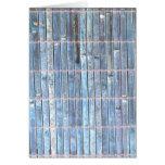 fondo de bambú del azul de la estera tarjetón