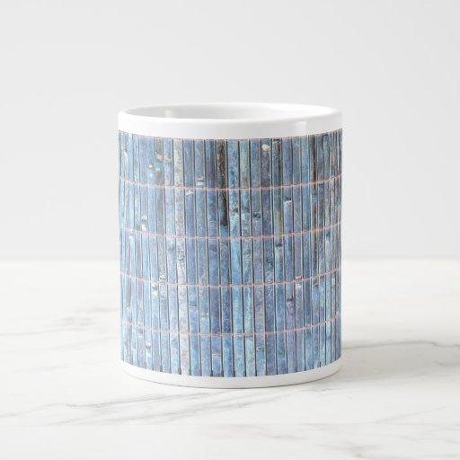fondo de bambú del azul de la estera tazas extra grande