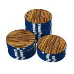 Fondo de bambú fichas de póquer