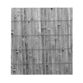 fondo de bambú .jpg del bw 2 de la estera blocs de papel