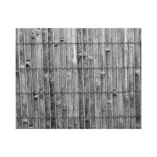 fondo de bambú .jpg del bw 2 de la estera impresión en lona