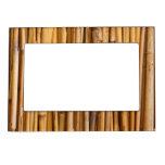 Fondo de bambú marcos magneticos