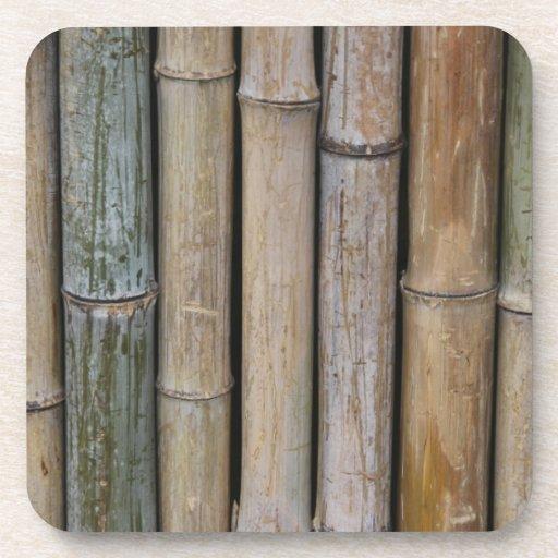 Fondo de bambú posavasos de bebidas