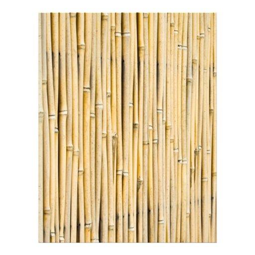 Fondo de bambú tarjetas informativas