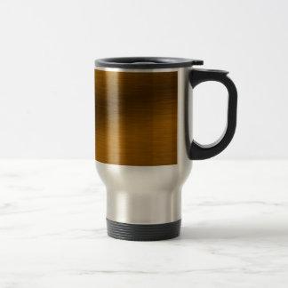 Fondo de bronce cepillado taza de café