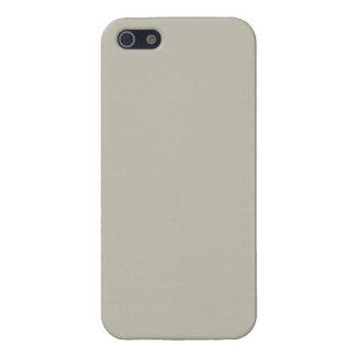 Fondo de color topo beige neutral del color sólido iPhone 5 funda