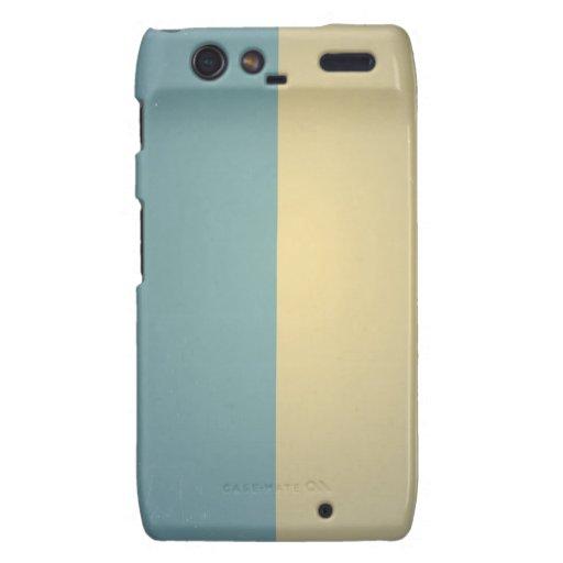 Fondo de ColorBlock de la crema de las azules Motorola Droid RAZR Fundas