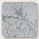 Fondo de cristal quebrado posavasos