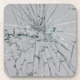 Fondo de cristal quebrado posavasos de bebidas