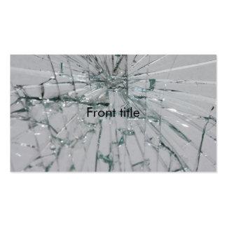 Fondo de cristal quebrado tarjetas de visita