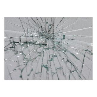 Fondo de cristal quebrado tarjetas de visita grandes