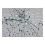 Fondo de cristal quebrado tarjetas personales