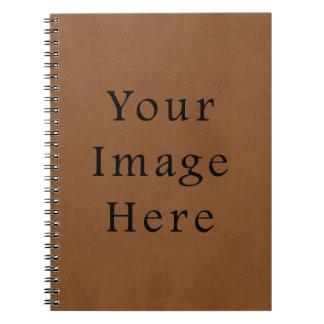 Fondo de cuero del papel de pergamino de Brown del Cuadernos