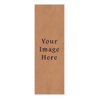 Fondo de cuero del papel de pergamino de Brown del Tarjetas De Visita Mini
