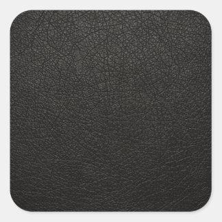 Fondo de cuero negro de la textura etiqueta