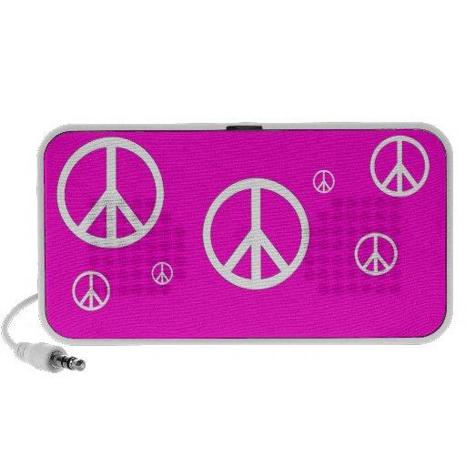 Fondo de Customizeable del doodle de la paz Notebook Altavoz