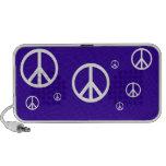 Fondo de Customizeable del doodle de la paz Laptop Altavoz