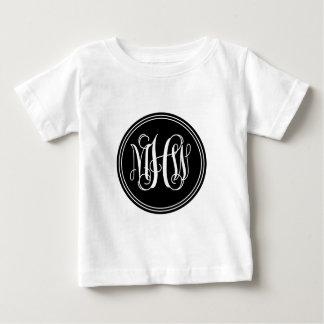 Fondo de DIY, monograma negro de la escritura de T Shirts