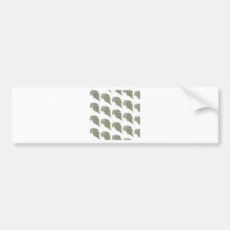 Fondo de encaje del helecho etiqueta de parachoque