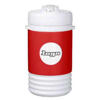 Fondo de encargo del color del logotipo de la vaso enfriador igloo