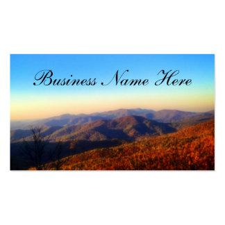 Fondo de encargo del top de la montaña tarjetas de visita