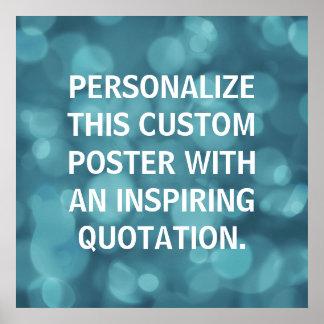 Fondo de encargo personalizado del bokeh del póster