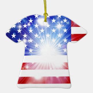 Fondo de la bandera americana adorno