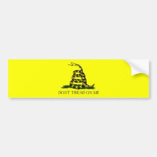 Fondo de la bandera w/Transparent de Gadsden Etiqueta De Parachoque