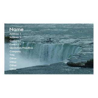 Fondo de la cascada plantillas de tarjetas de visita