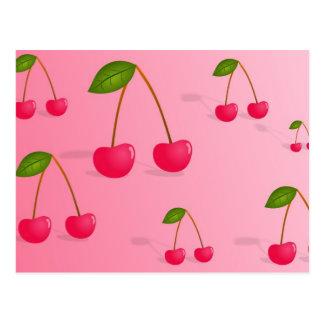 Fondo de la cereza tarjetas postales