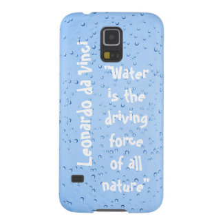 Fondo de la cita del agua del descenso de Leonardo Funda Galaxy S5