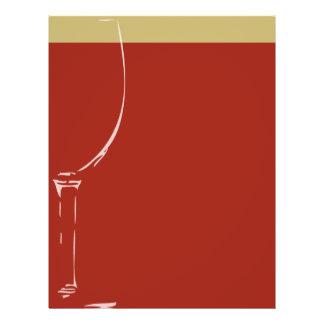 """Fondo de la copa de vino folleto 8.5"""" x 11"""""""