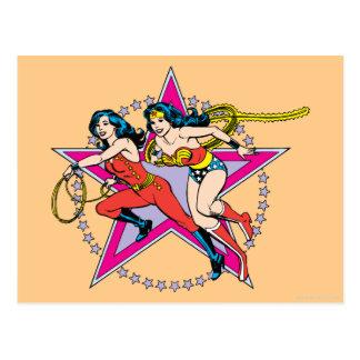 Fondo de la estrella de la Mujer Maravilla Postales