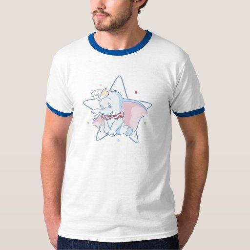 Fondo de la estrella de la sentada de Dumbo Playera