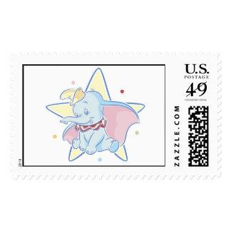 Fondo de la estrella de la sentada de Dumbo Sellos