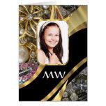 Fondo de la foto de la joyería del oro tarjeta de felicitación
