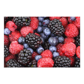 Fondo de la fruta del bosque impresiones fotográficas